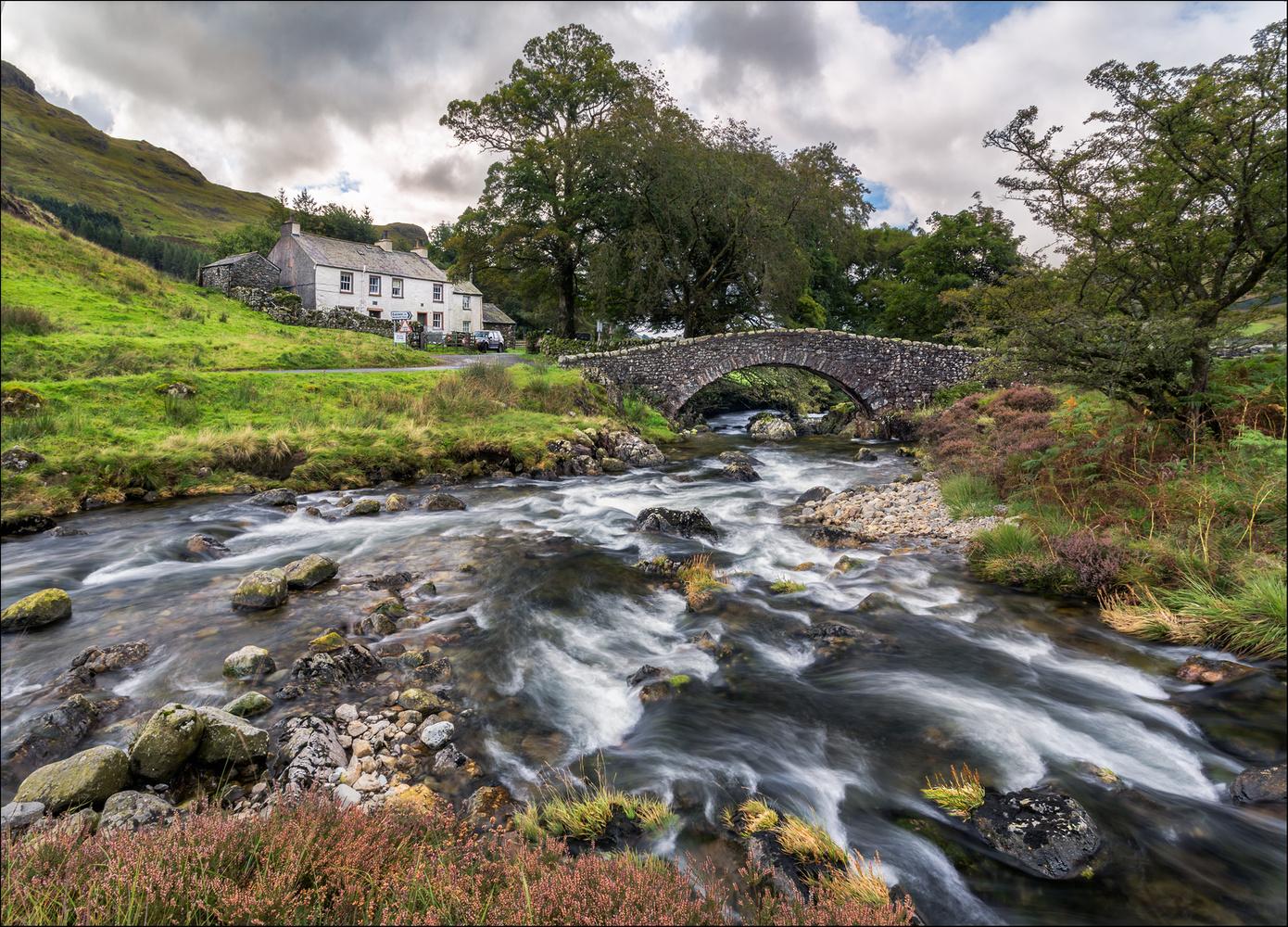 Cockley Beck bridge, Fell Foot Farm, Langdale  by Mark Heavisides