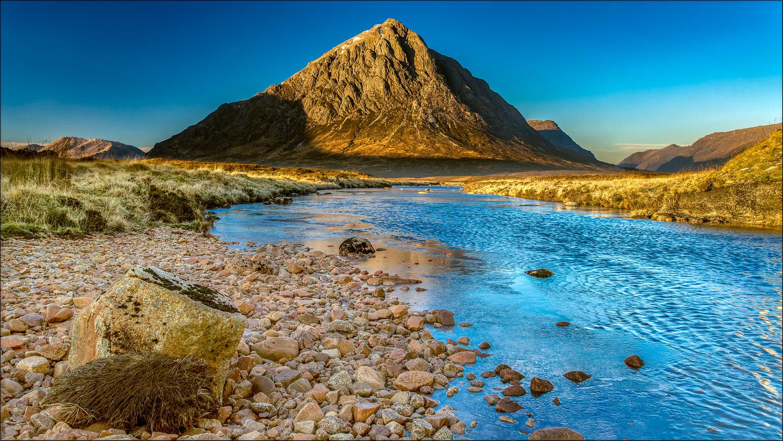 Glen Etive with Buachaille Etive Mòr, Scotland by Mark Heavisides