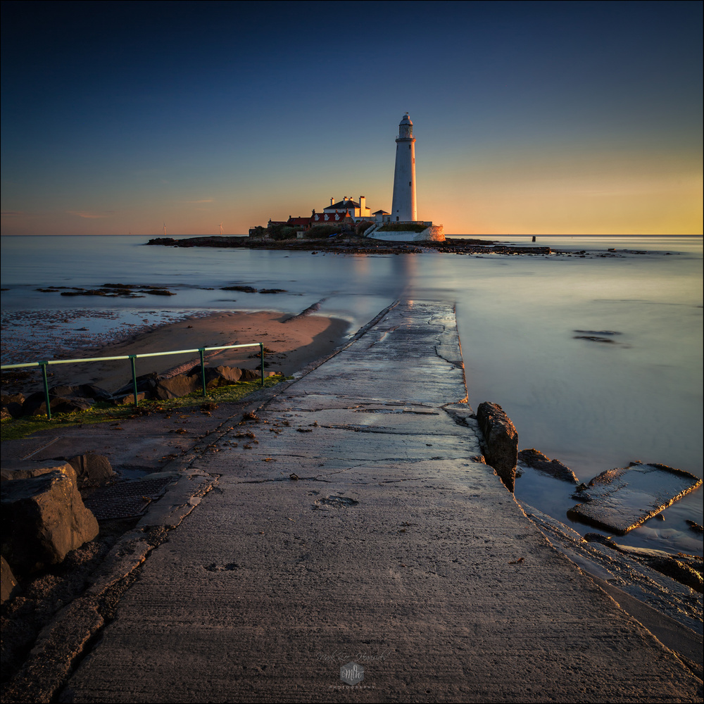 Dawn at St Mary's Lighthouse, Whitley Bay by Mark Heavisides