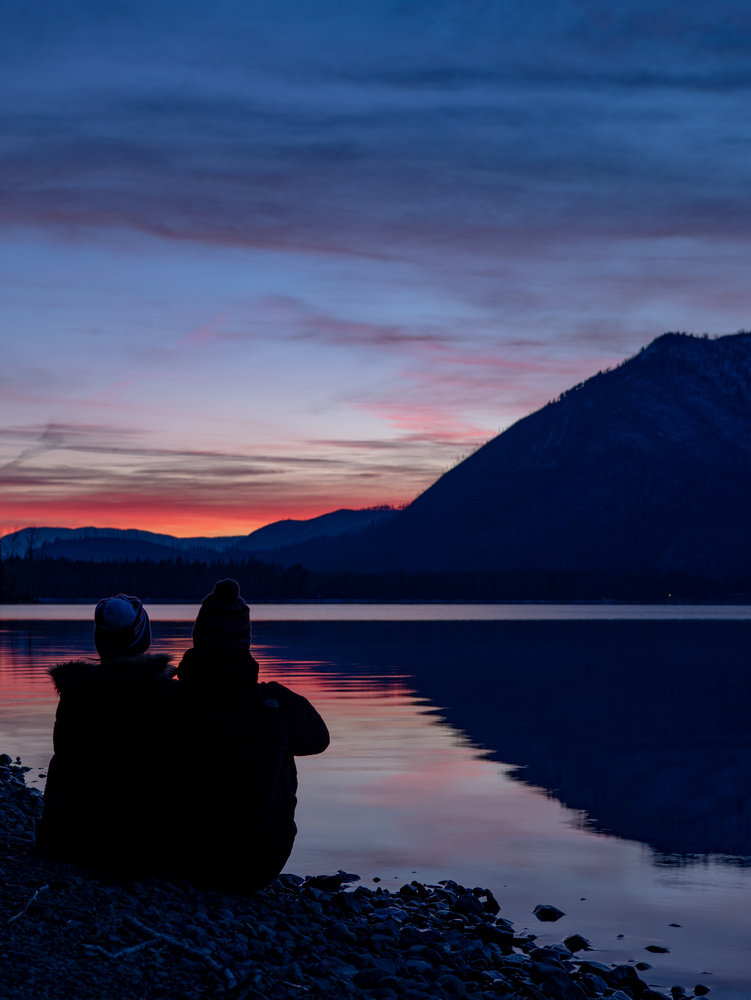 Winter Sunset on Lake McDonald by Ashleigh Magill