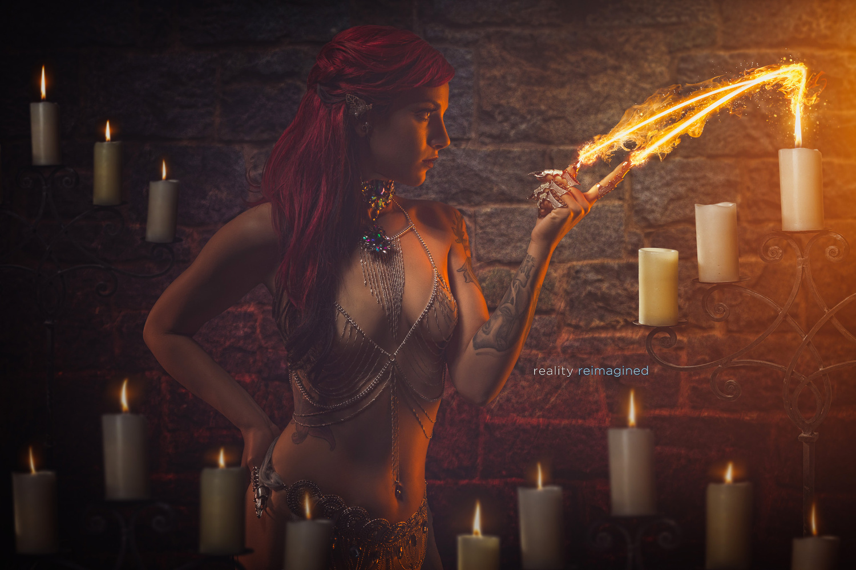 Fire weaving by David Byrd