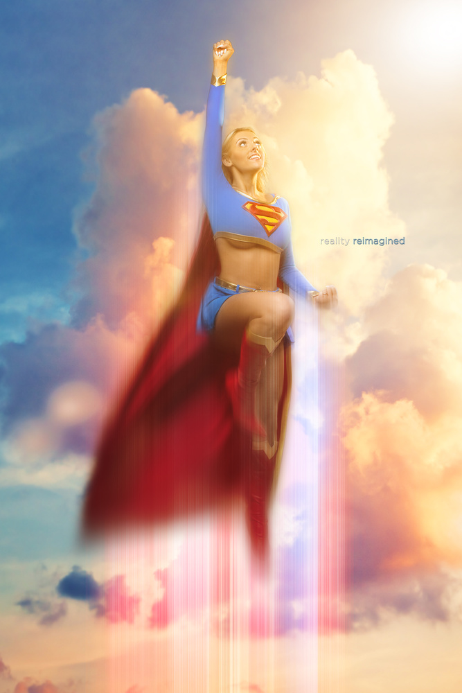 Supergirl takes flight by David Byrd