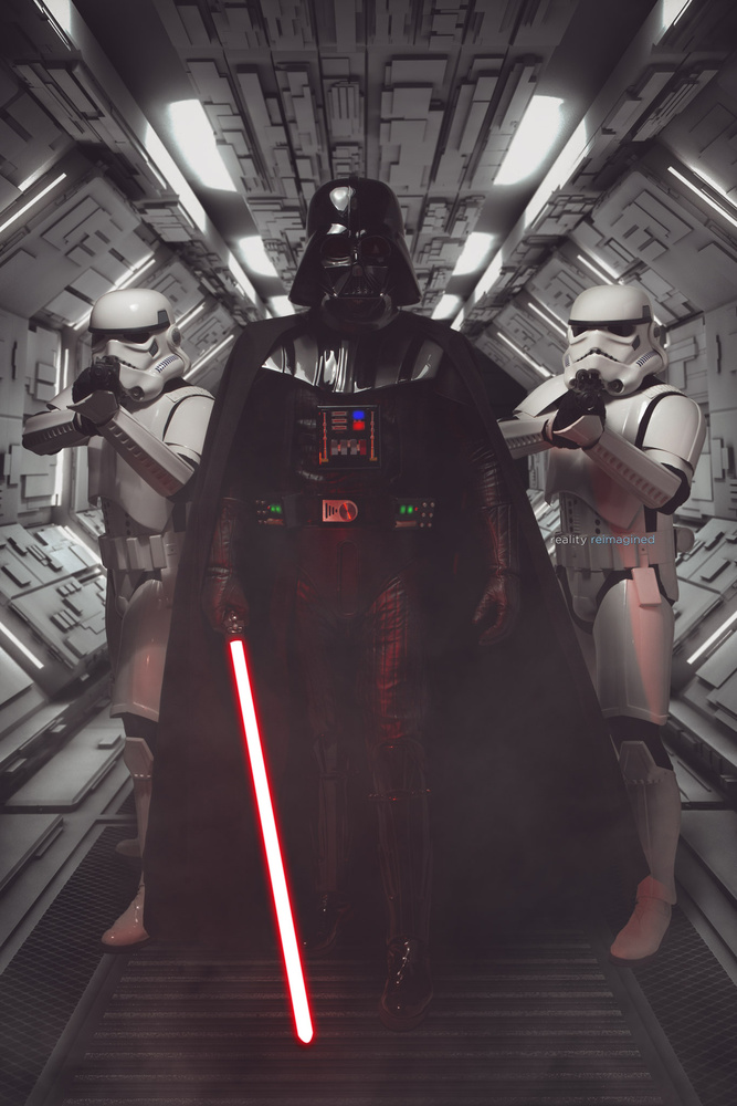 Lord Vader approaches by David Byrd