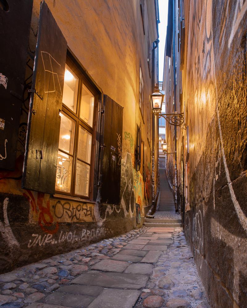 Shallow street in Stockholm by Mikhail Proskalov