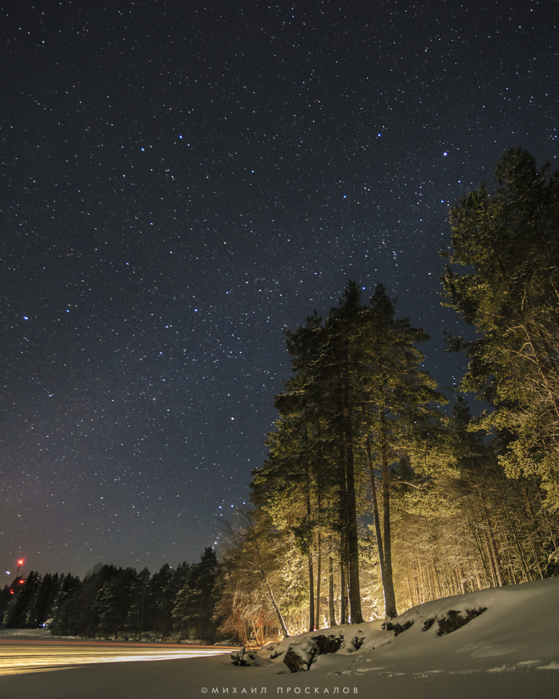 a night by Mikhail Proskalov
