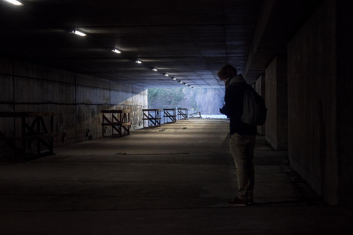 An abandon metro station by Dennis Rydberg