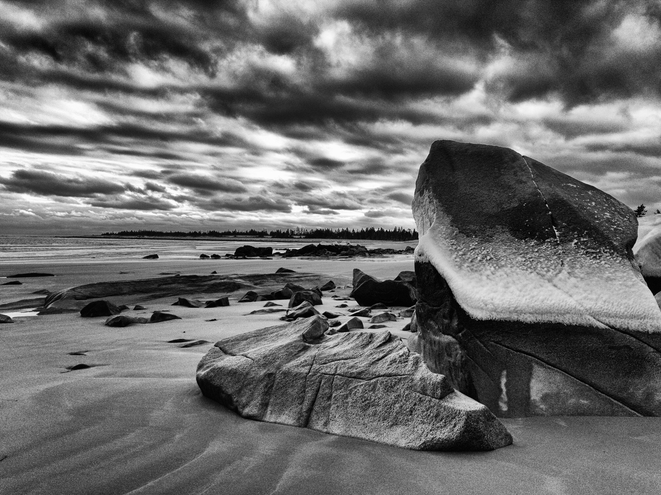 Beach in Winter by Darryl Kenty