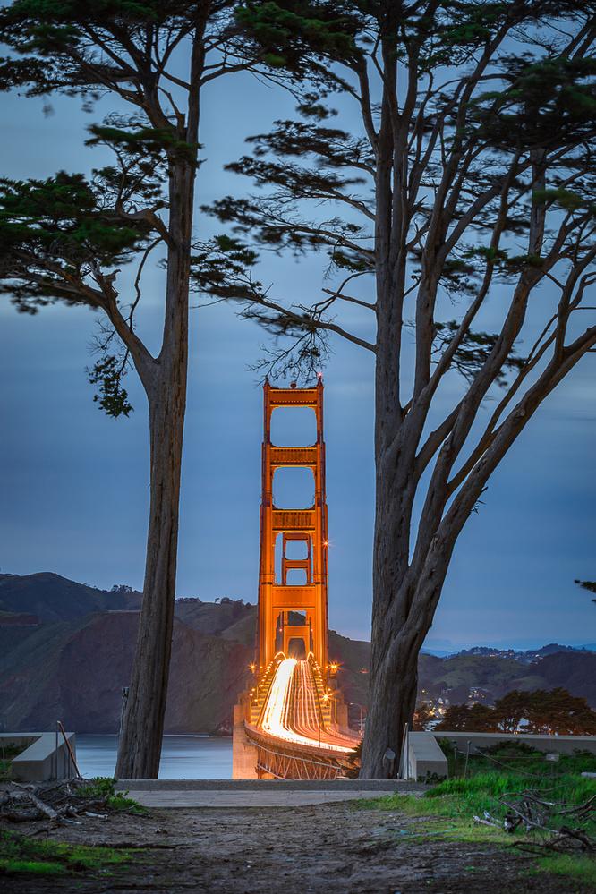 Golden Gate Bridge  by Chamkaur Singh