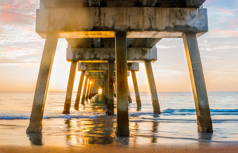 Sunrise Under the Pier by Liza Rock