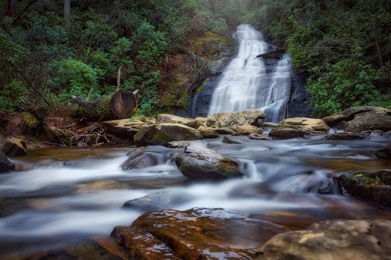 Helton Creek Falls by Liza Rock