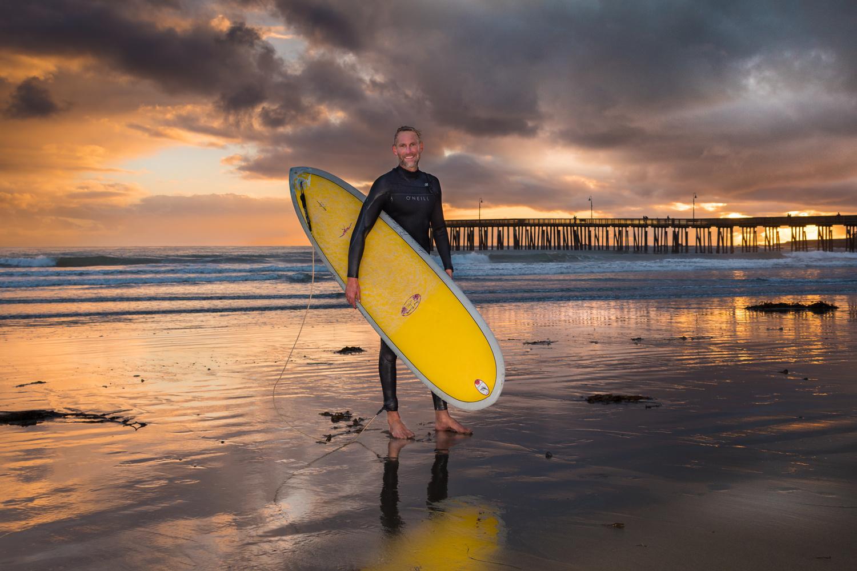 Surfer Portrait by Peter Sebastian Masny