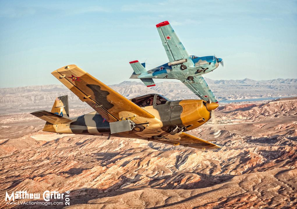 Aircraft over the Desert by Matthew Carter