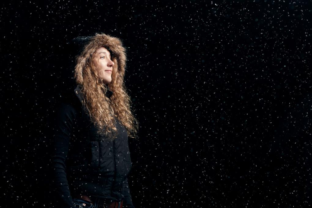 Paris' Portrait in the Snow by Chris Porto
