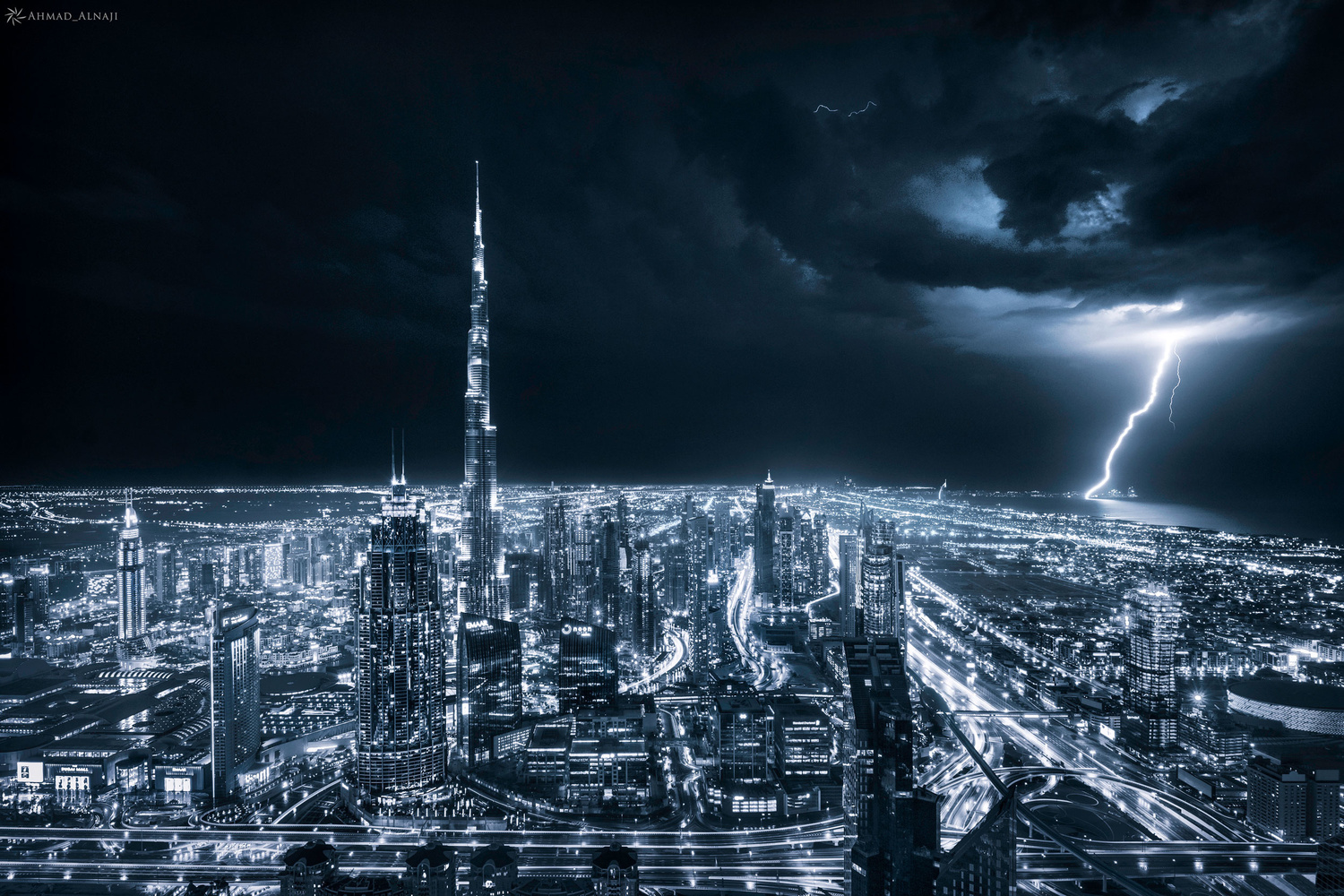 A Night in Dubai by Ahmad Alnaji
