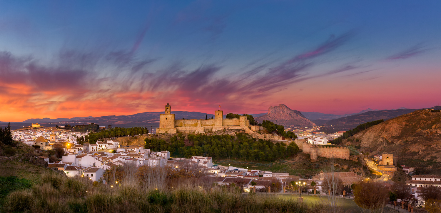 Panorama of the beautiful city of Antequera, in Andalusia region of Spain by Thomas Andlauer