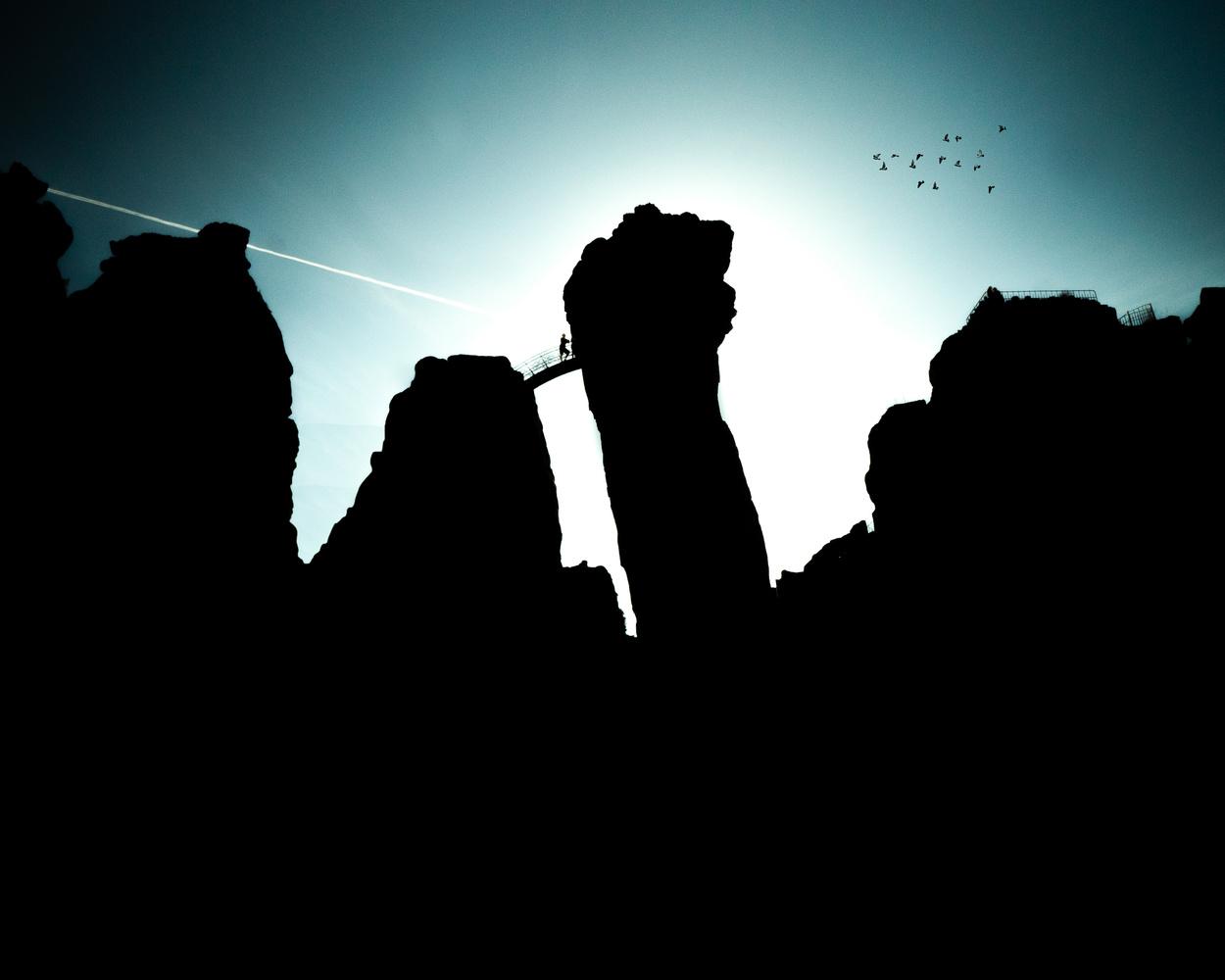 Silhouette of the Externsteine by Sam Green
