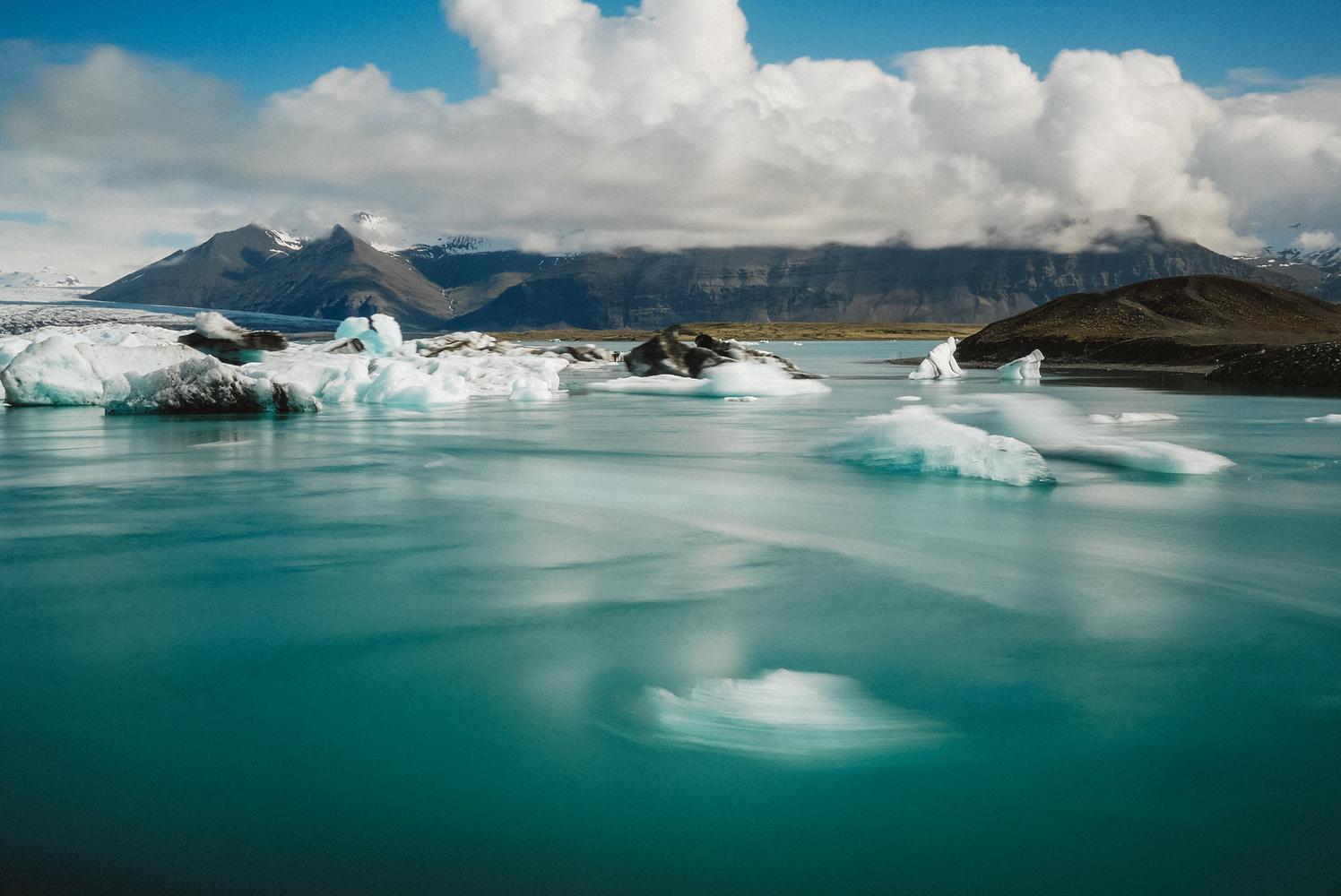 The floating ice of Jökulsárlón by Sam Green