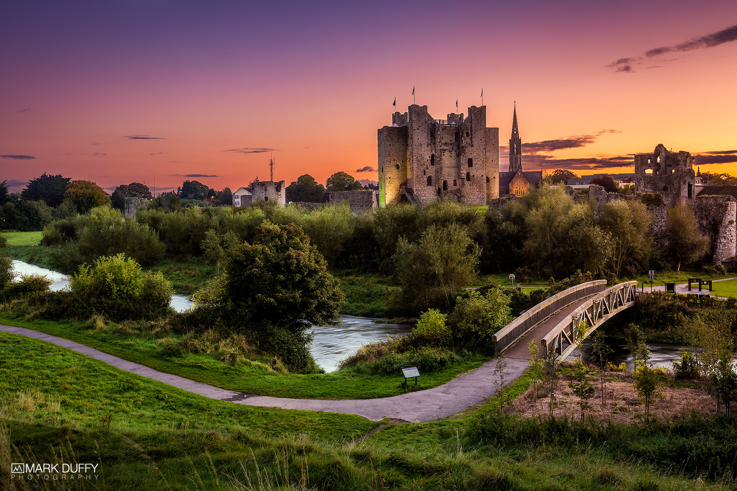 Trim Castle Sunset by Mark Duffy