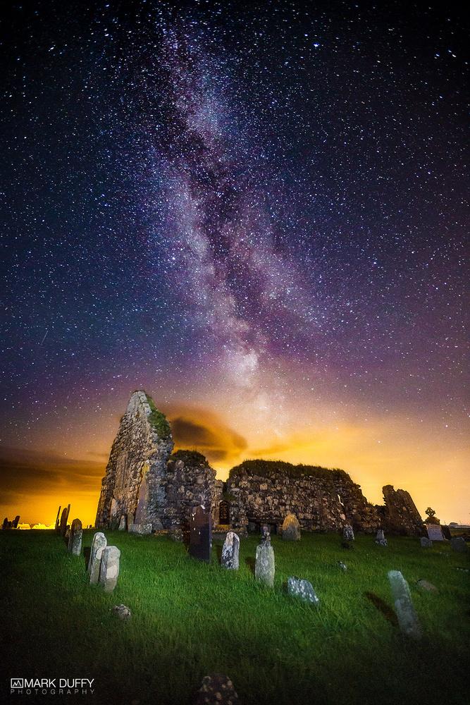 Milkyway Over Kilwirra Church by Mark Duffy