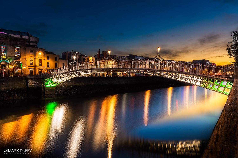 Ha'penny Bridge Sunset by Mark Duffy