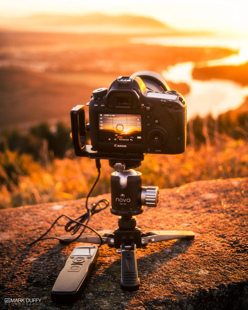 Flagstaff Sunrise Behind the Photo by Mark Duffy