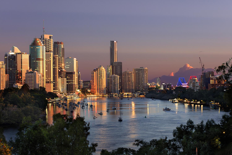 Brisbane Skyline by Miguel Santos Novoa