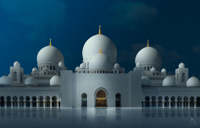 Grand Mosque Abu Dhabi by Saajan Manuvel