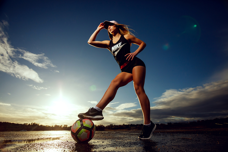 Soccer Girl. by Sergey Bidun
