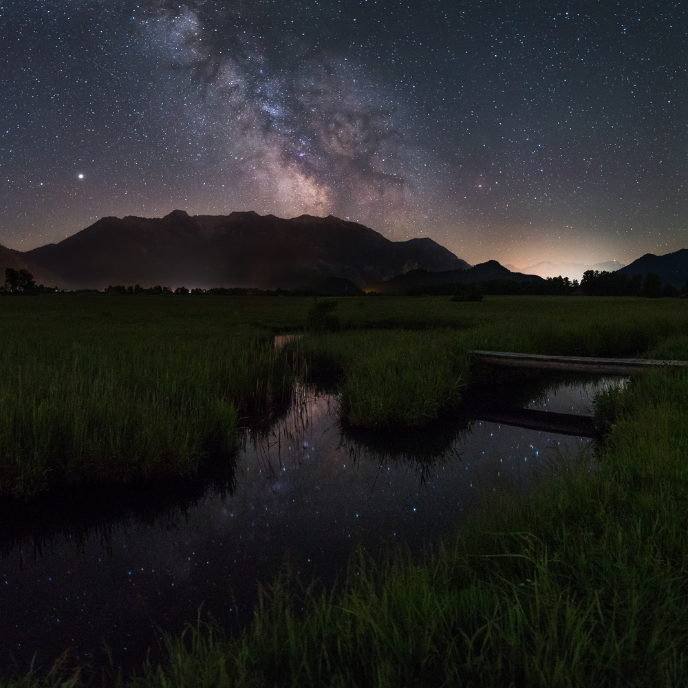 Milky way over the Murnauer Moos by Jürgen Rockmann