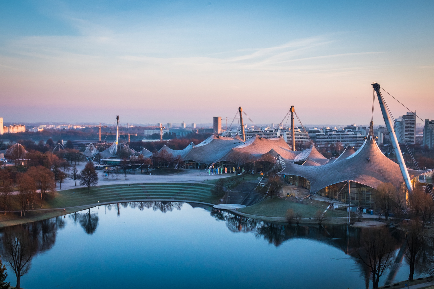 Sunrise at Olympiapark by Fine Ch