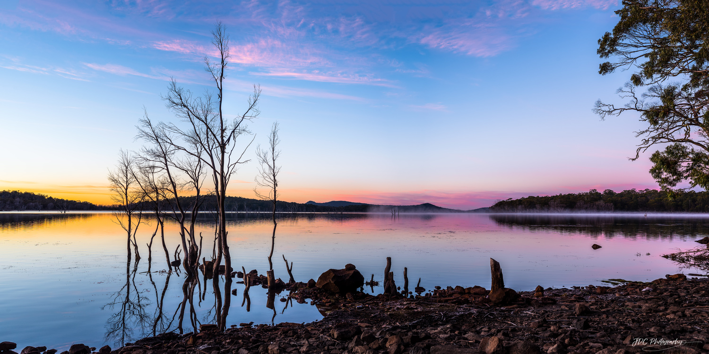 Orange and Purple Sunrise by Jason Coombe