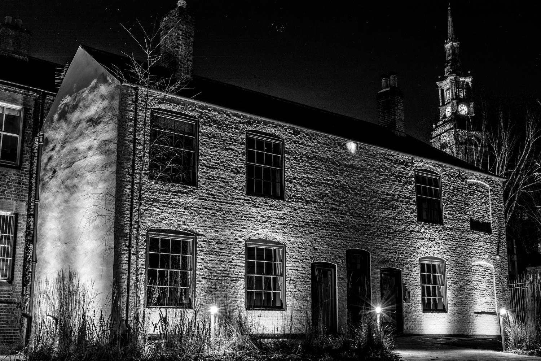 Illuminated house by Steven Maitland