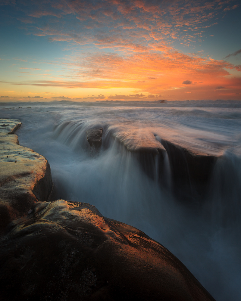 La Jolla Waterfall by Chad Downum