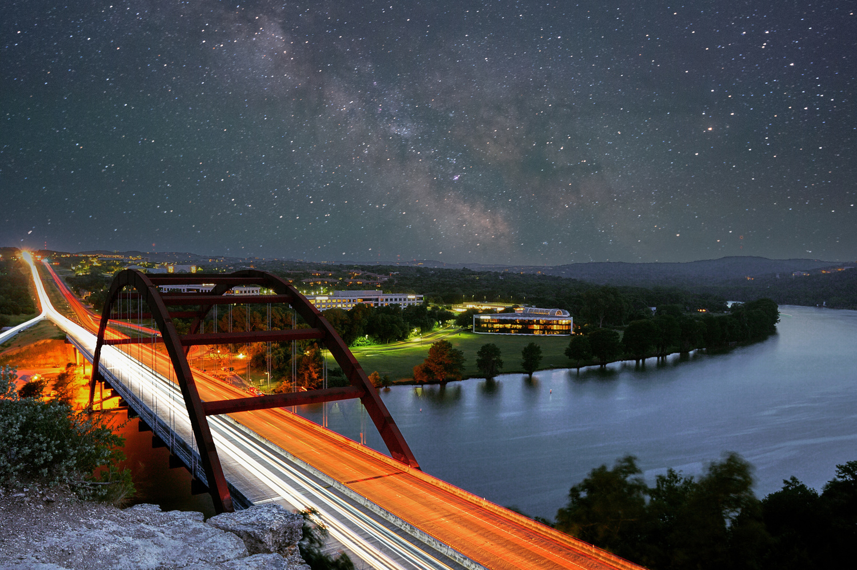 Pennybacker Bridge in Austin, TX by Justin Lauria