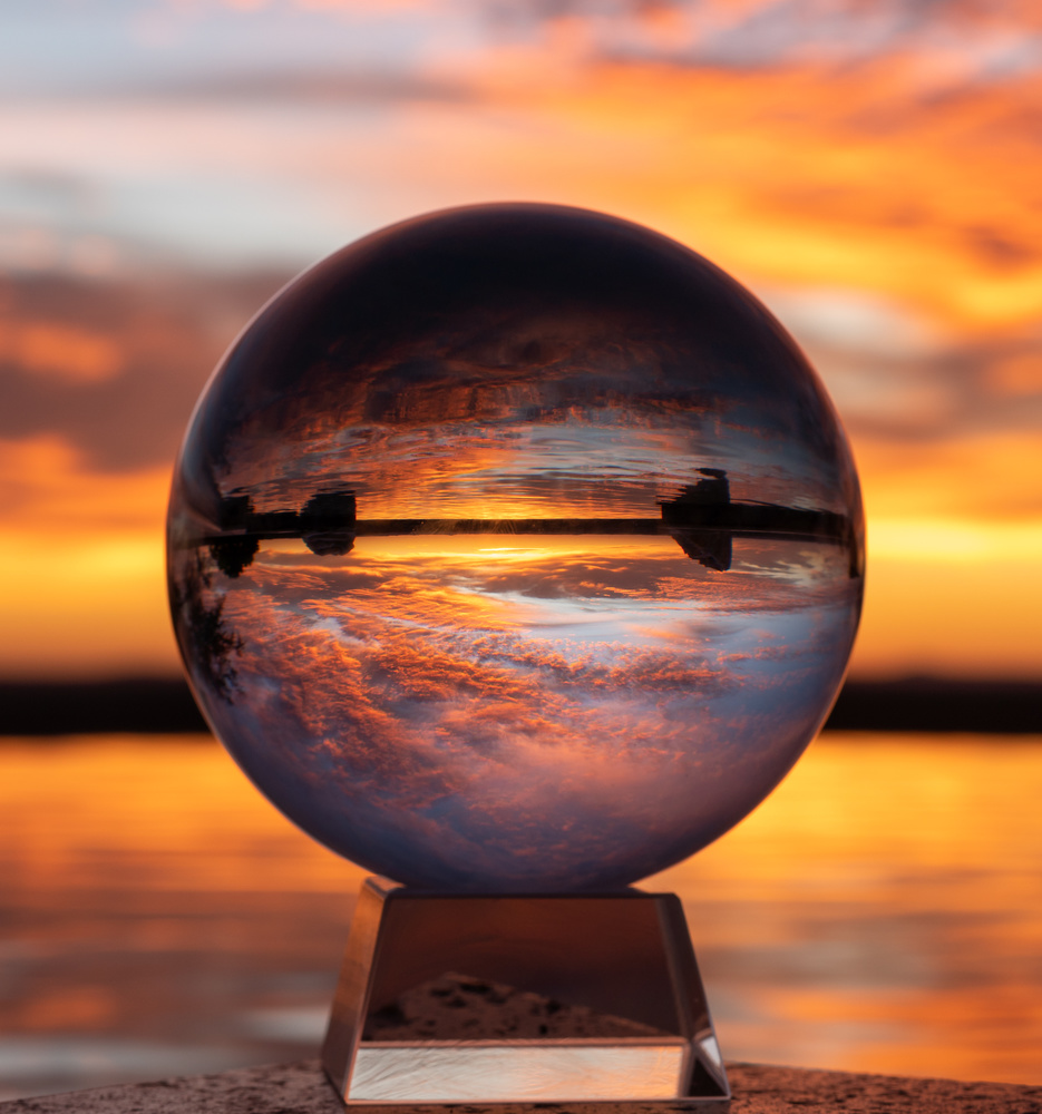 Sunset Through A Crystal Orb by Justin Lauria