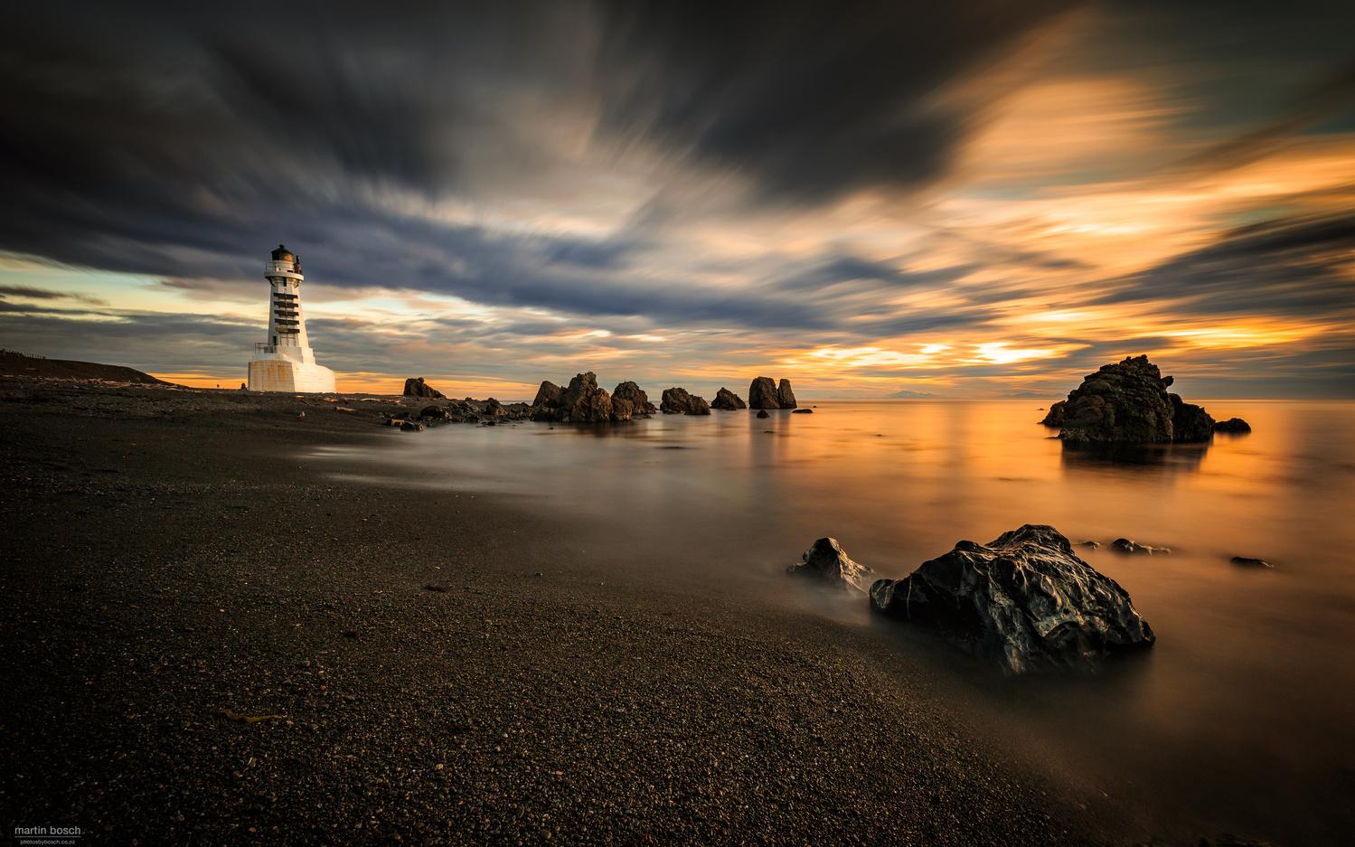 Pencarrow lighthouse by Martin Bosch