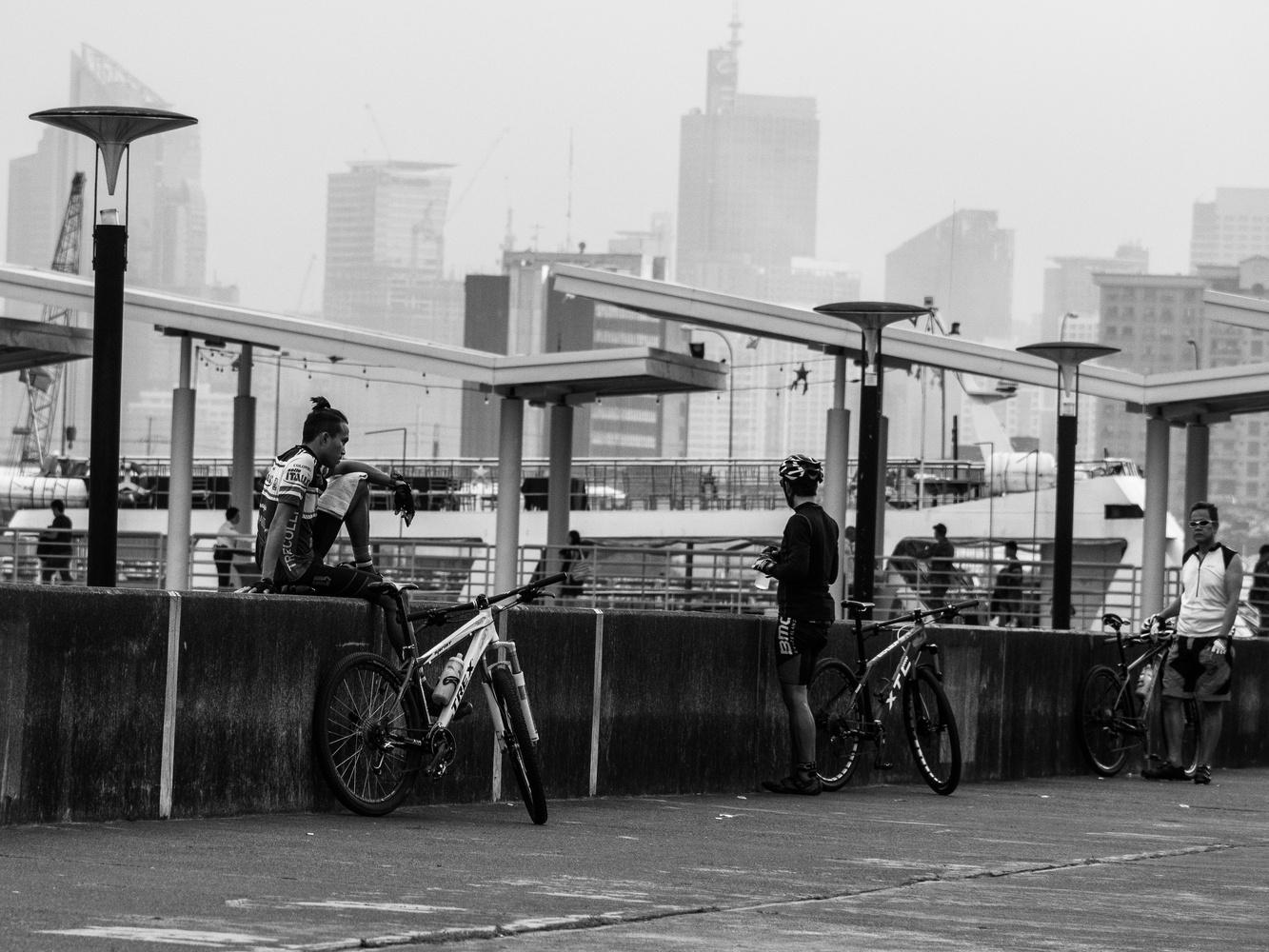 Three Cyclists by Matthew Roberge