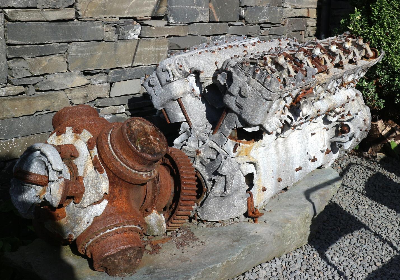 Old aeroplane engine. by Alex Lancashire