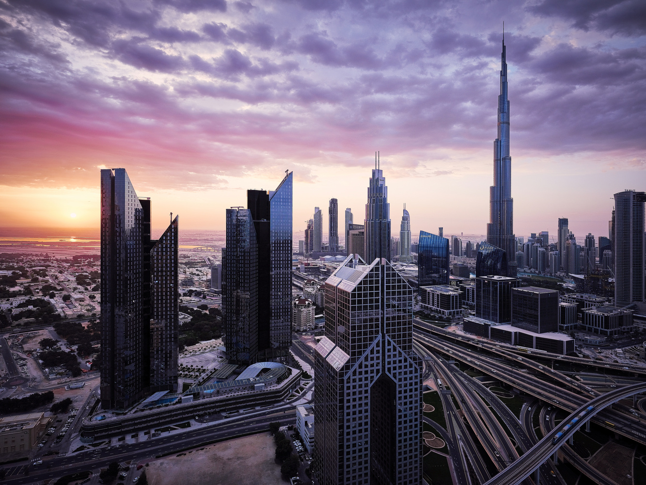Dubai Sunrise by ivan joshua loh
