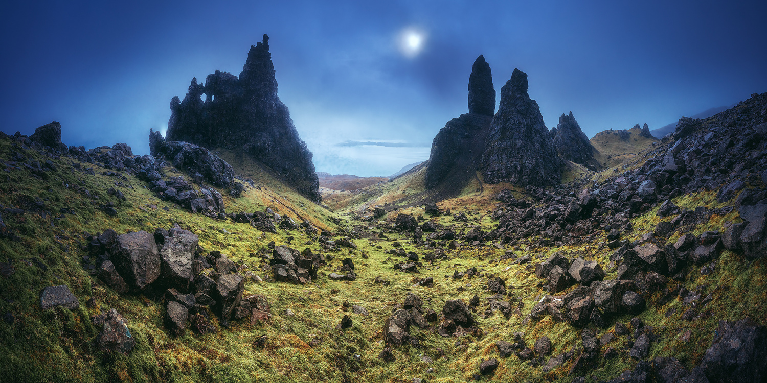 Scotland - The Mighty Old Man of Storr by Jean Claude Castor