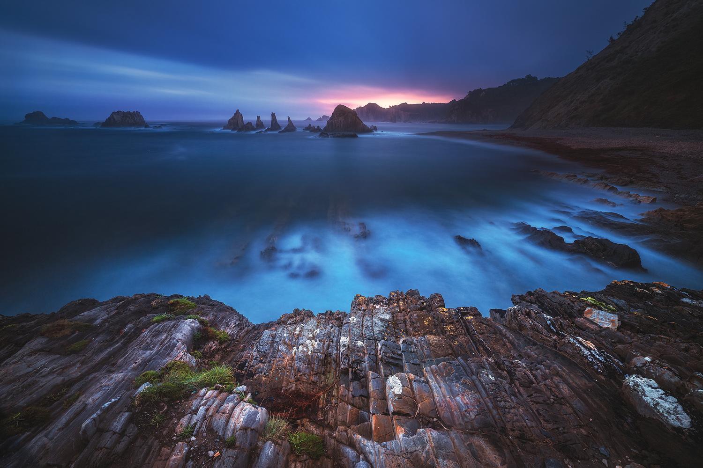 Asturias - Playa Gueirua by Jean Claude Castor