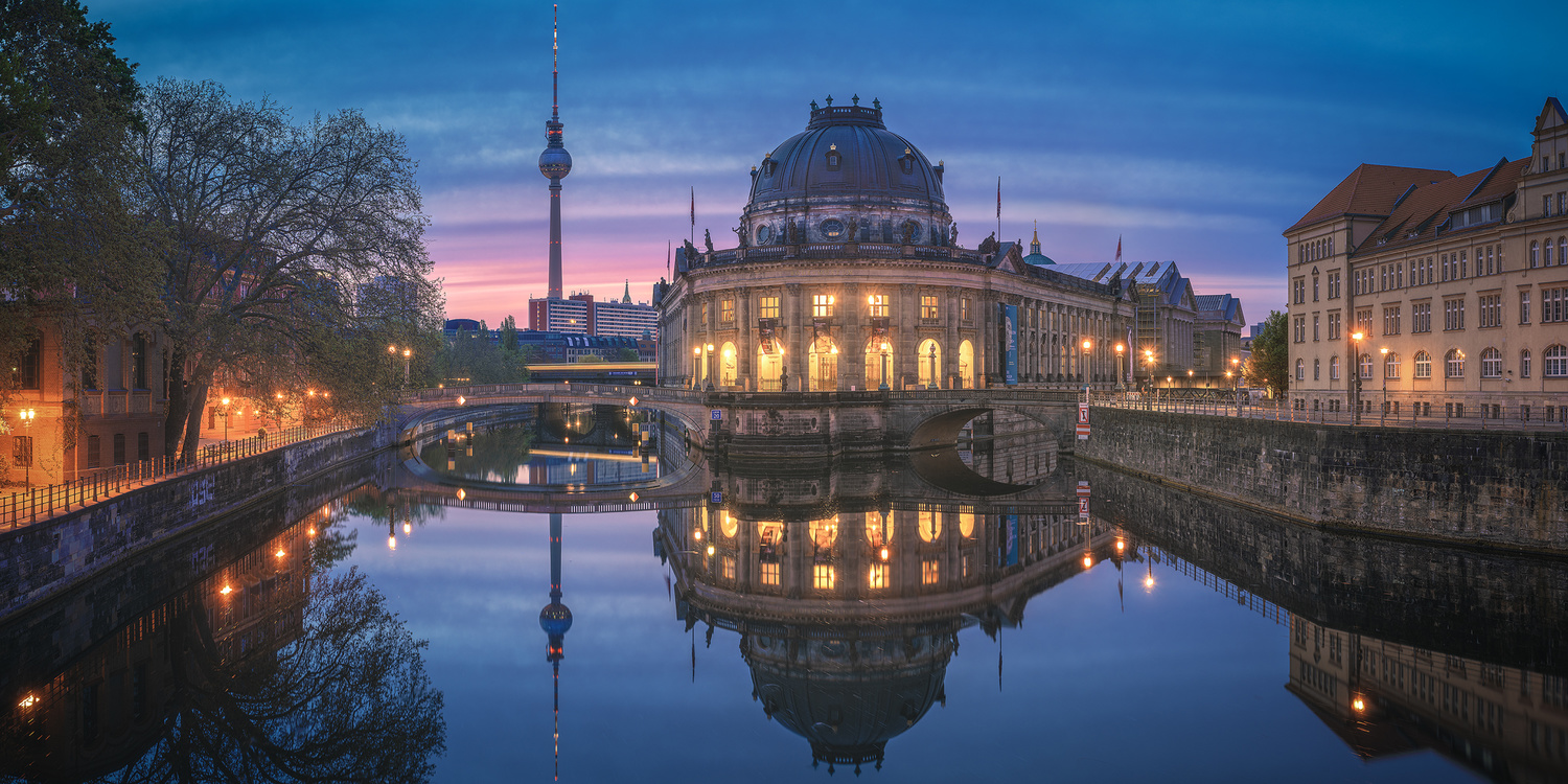 Berlin - Bodemuseum Panorama Blue Hour by Jean Claude Castor