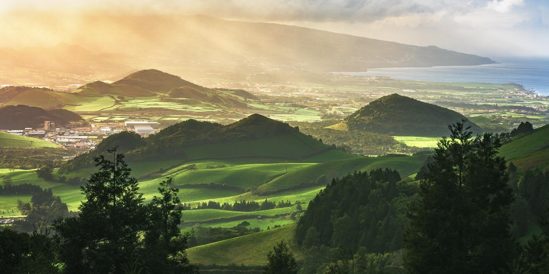 Azores - Sao Miguel Sunrays by Jean Claude Castor