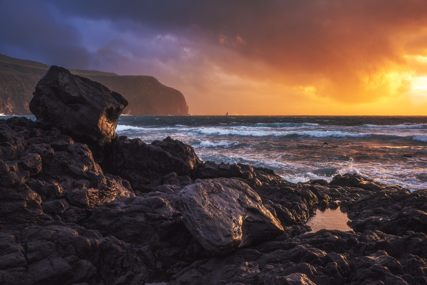 Azores - Mosteiros Sunset II by Jean Claude Castor