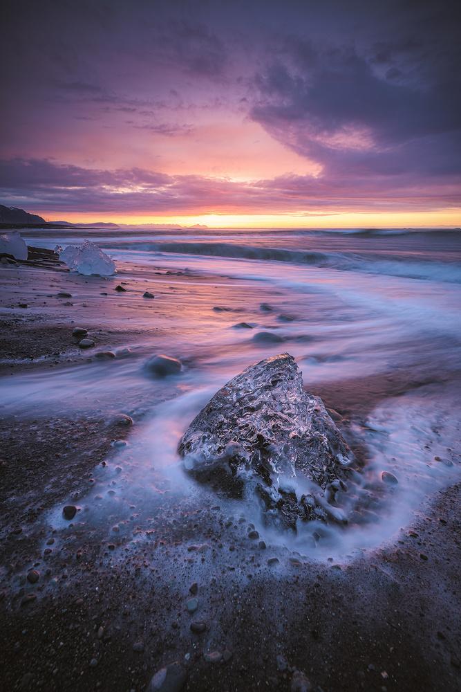 Iceland - Diamond Beach Sunrise by Jean Claude Castor