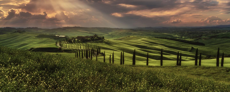 Tuscany - Crete Senesi Sunset by Jean Claude Castor
