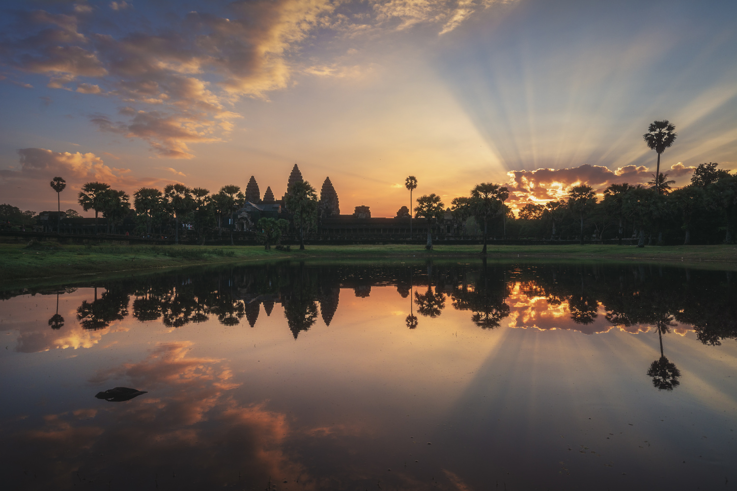 Cambodia - Angkor Wat Sunrise by Jean Claude Castor