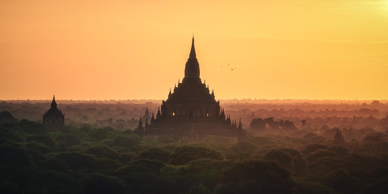Myanmar - Bagan Sunrise by Jean Claude Castor