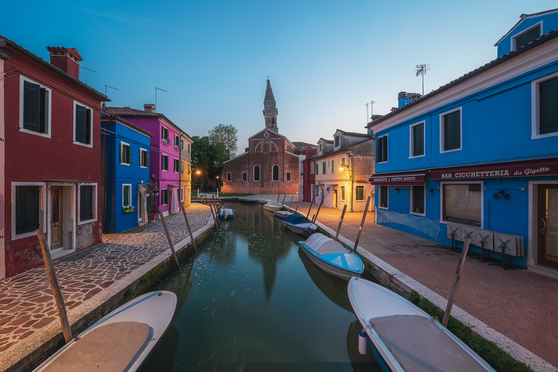 Venice - Burano at Night by Jean Claude Castor