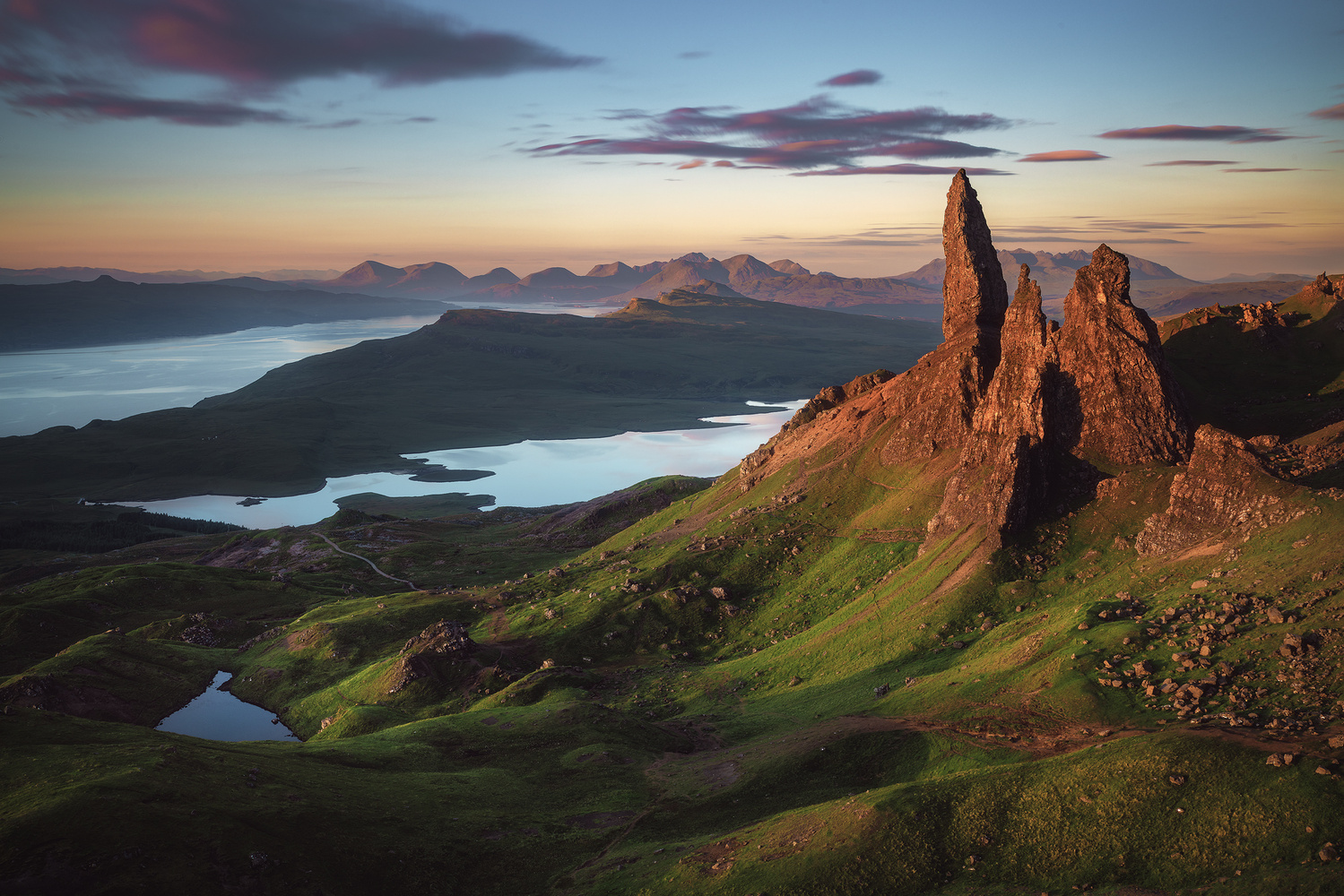 Scotland - Old Man of Storr by Jean Claude Castor